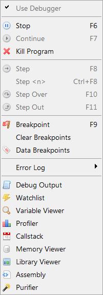 Using the debugger