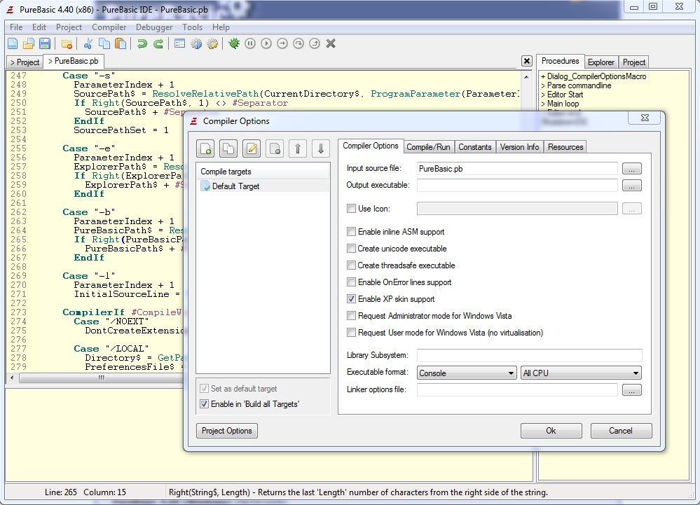 PureBasic x64 screenshot